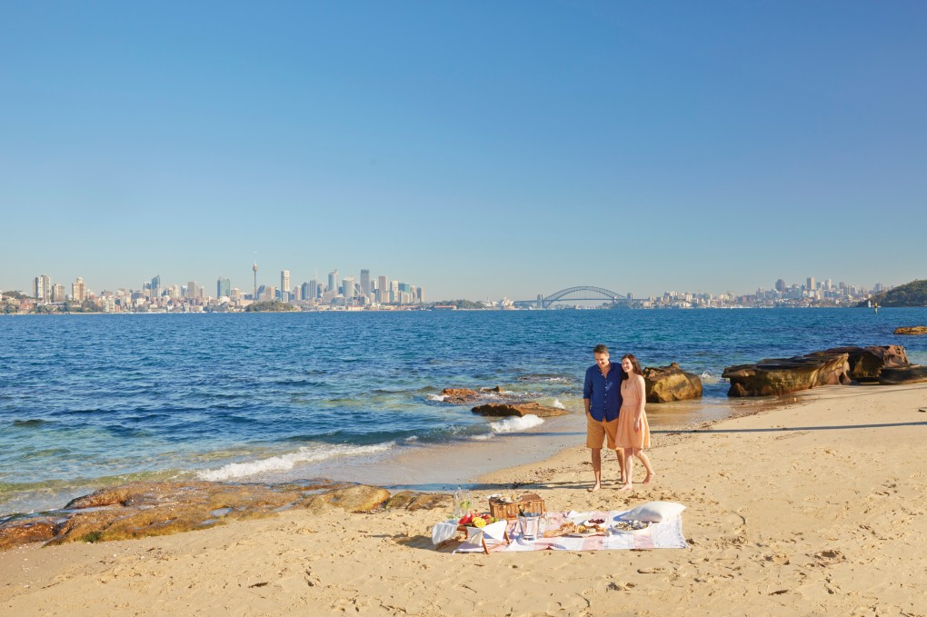 Picnic at Shark Beach, Sydney Harbour, NSW